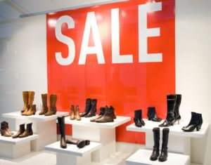 sale sign on store