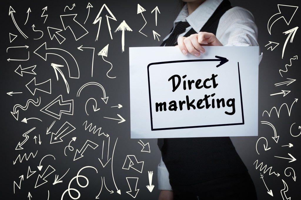 Direct marketing concept