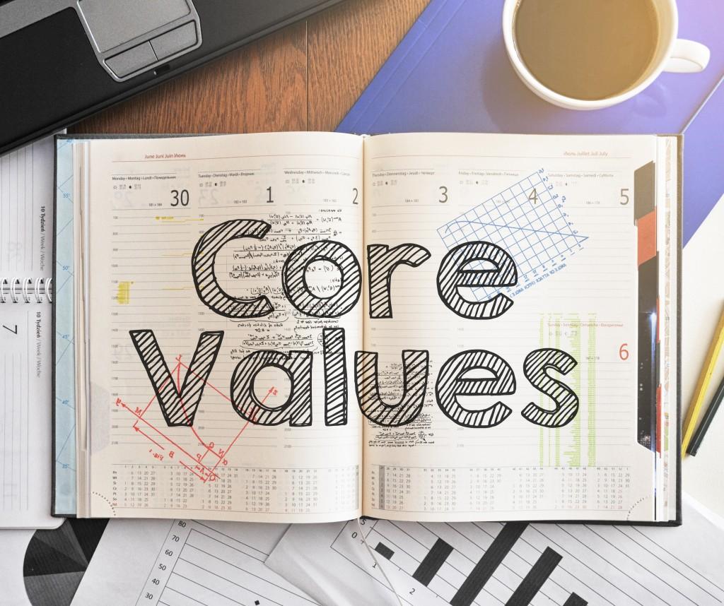 core values written text