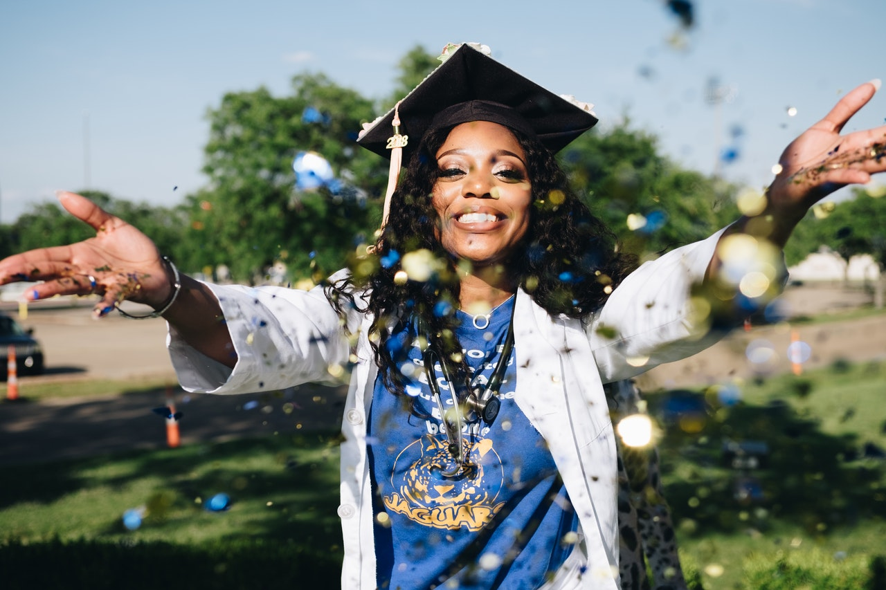 woman's graduation