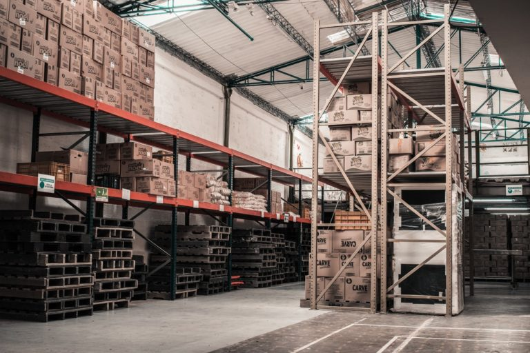 a warehouse filled with boxes