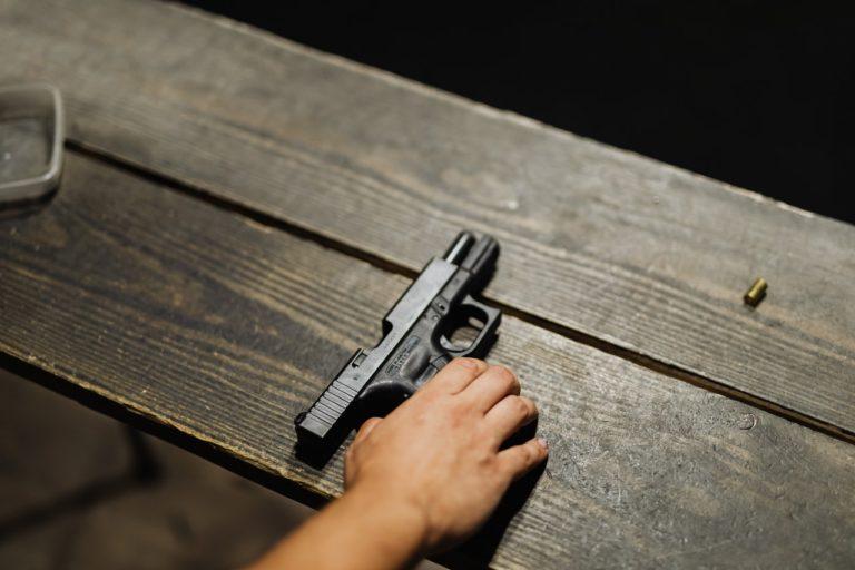 empty glock hand gun