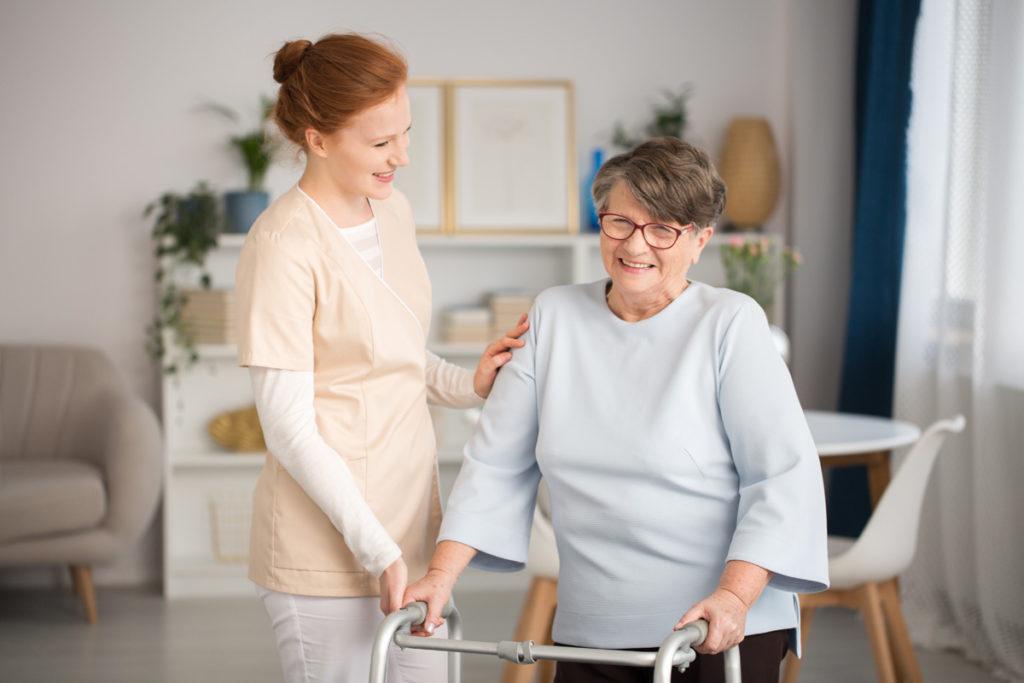 nurse helping elder