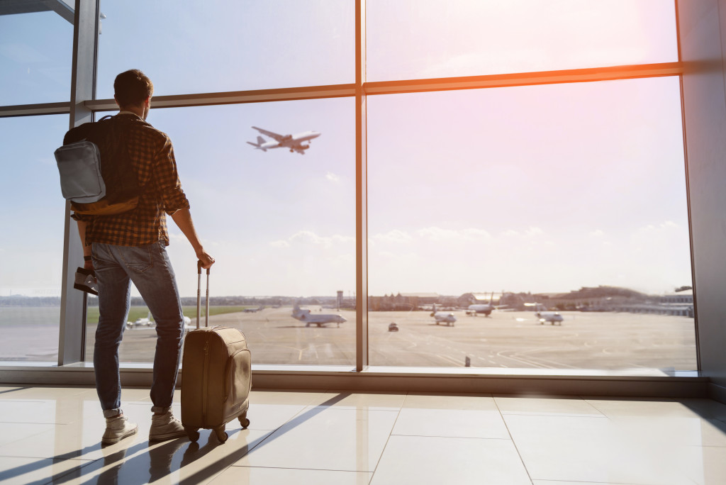 man at an airport