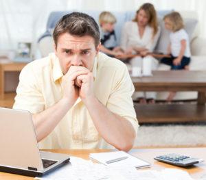 person computing debts