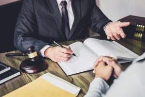 lawyer and client